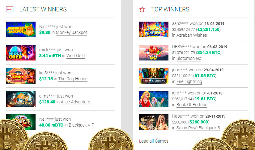 Free bitcoin slot machines with free spins