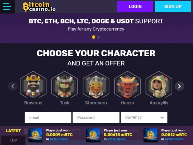 Play bitcoin casino no deposit required
